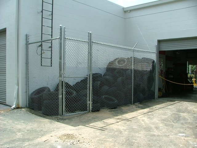 Chain Link Security Cage Tampa Florida